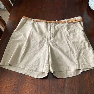 """NWT Bandolino """"Jamie the short"""" linen shorts sz 14"""
